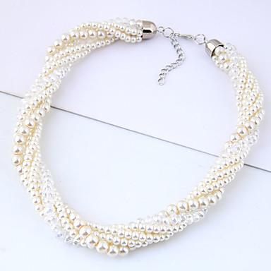 povoljno Modne ogrlice-Žene Ogrlica od perla U obliku pletenice Zavrnuto dame Europska Moda Imitacija bisera Legura Obala 40 cm Ogrlice Jewelry 1pc Za Zabava / večer Dnevno