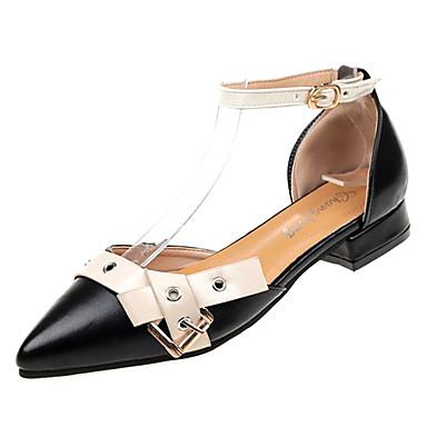 e381fcf7c4e3 Women s PU(Polyurethane) Summer Ankle Strap Flats Flat Heel Pointed Toe  Black   Beige   Wine 6836936 2019 –  22.99