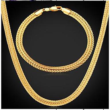 levne Dámské šperky-Pánské Vintage náhrdelník Stylové Pneumatika dámy Módní Dubaj Pozlacené Náušnice Šperky Zlatá Pro Denní Večerní oslava