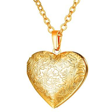povoljno Modne ogrlice-Žene Ogrlice s privjeskom Long Medaljon Srce dame Romantični Gotika Kamen Zlato Pink Rose Gold 55 cm Ogrlice Jewelry 1pc Za Dar Dnevno