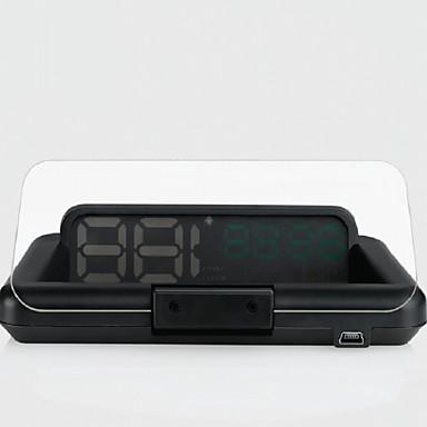 voordelige Automatisch Electronica-INFOS T900 4.3 inch(es) Anolog LCD-scherm 420TVL 1208 x 1208 CMOS-sensor Bekabeld 60° 10 pcs 60/ 15 ° 90*203.6 inch(es) Head Up Display Plug & play / Nacht Zicht voor Automatisch Meet de rijsnelheid
