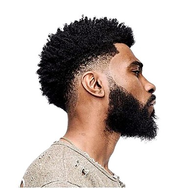cheap Toupees-Men's Human Hair Toupees Curly 100% Hand Tied Soft