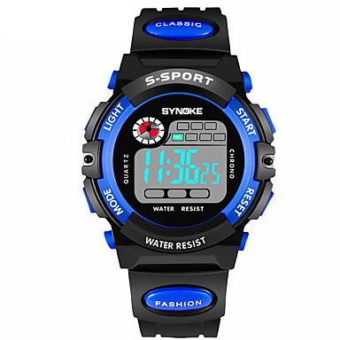 levne Pánské-SYNOKE Pánské Sportovní hodinky Digitální hodinky Digitální Z umělé kůže Černá 30 m Voděodolné Kalendář Chronograf Digitální Módní - Žlutá Červená Modrá / Hodinky s dvojitým časem / Svítící