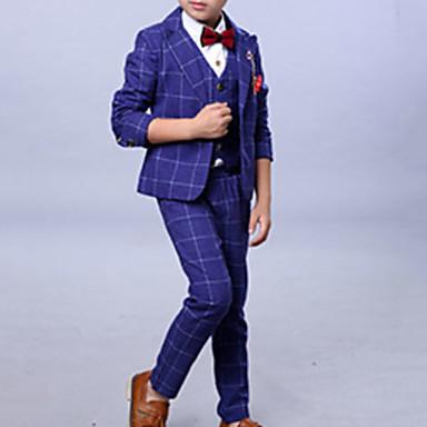 povoljno Odjeća za dječake-Djeca Dječaci Osnovni Jednobojni Dugih rukava Komplet odjeće Plava