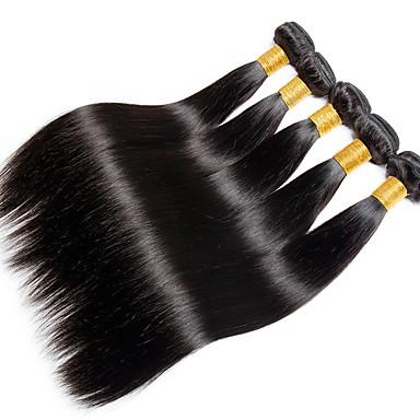 povoljno Ekstenzije od ljudske kose-6 paketića Indijska kosa Ravan kroj Remy kosa Ljudske kose plete Bundle kose Jedan Pack Solution 8-28inch Prirodna boja Isprepliće ljudske kose novorođenče Waterfall Sladak Proširenja ljudske kose