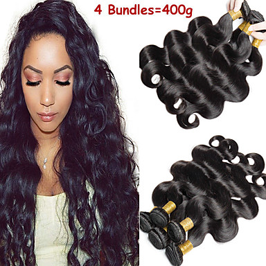 povoljno Ekstenzije od ljudske kose-6 paketića Malezijska kosa Tijelo Wave 100% Remy kose tkanja Bundle Ljudske kose plete Bundle kose Jedan Pack Solution 8-28 inch Prirodna boja Isprepliće ljudske kose Odor Free proširenje Gust