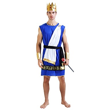 egyptian costume costume mens adults halloween carnival masquerade festival holiday halloween costumes outfits ink blue solid colored halloween halloween