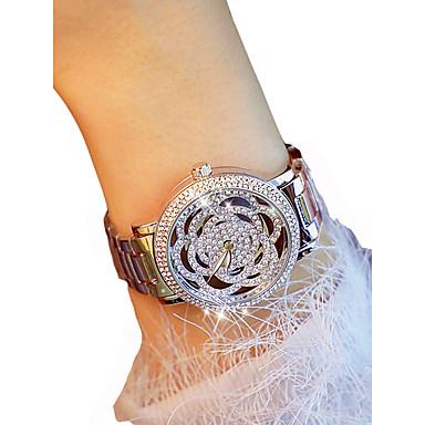 levne Dámské-Dámské Luxusní hodinky Náramkové hodinky Diamond Watch Křemenný Stříbro / Zlatá Chronograf Svítící Hodinky na běžné nošení Analogové dámy Květina Elegantní - Zlatá Stříbrná / imitace Diamond