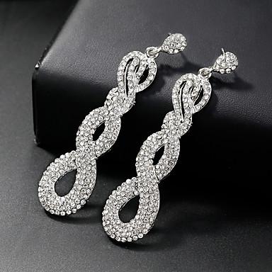 povoljno Naušnice-Žene Viseće naušnice Long Cvijet Jednostavan Europska Moda Naušnice Jewelry Pink Za Vjenčanje Dnevno 1 par