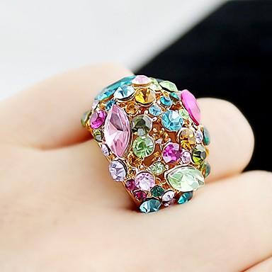 levne Dámské šperky-Dámské Band Ring Turmalín Syntetický turmalin 1ks Zlatá Slitina Circle Shape dámy Základní Módní Denní Rande Šperky Zásobník