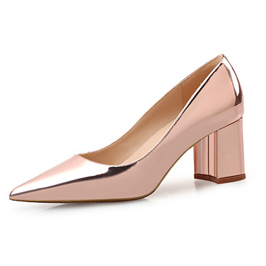 537118a9fde Women s Shoes Patent Leather Spring   Summer Comfort Heels Chunky Heel  Pointed Toe Red   Nude   Champagne 6778143 2019 –  42.74