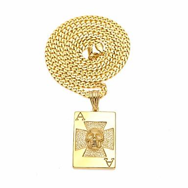povoljno Modne ogrlice-Muškarci Ogrlice s privjeskom Lančići Sa stilom Kubanska veza Lančani lančić Kereszt Lubanja Jedinstven dizajn Europska Hip-hop Egipćanin nehrđajući Zlato Pink 60 cm Ogrlice Jewelry 1pc Za Ulica Klub