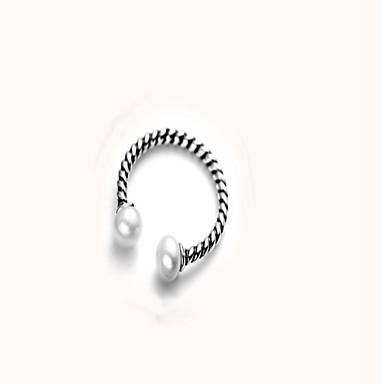 billige Motering-Dame Justerbar ring vikle ring Perle 1pc Sølv S925 Sterling Sølv Sirkelformet damer Mote Daglig Aftenselskap Smykker Dusk umake Kul