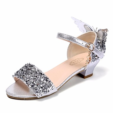 509716c05450 Girls  Shoes PU(Polyurethane) Summer Flower Girl Shoes   Tiny Heels for  Teens Sandals for Silver 6830627 2019 –  24.99