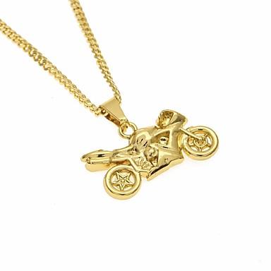 povoljno Modne ogrlice-Muškarci Ogrlice s privjeskom Sa stilom Long Moto pomodan Casual / sportski Moda Legura Zlato 60 cm Ogrlice Jewelry 1pc Za Ulica Izlasci