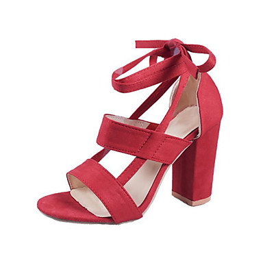 f22583064d747 Women s Shoes Suede Spring   Summer Ankle Strap Sandals Chunky Heel Open  Toe Green   Pink   Burgundy 6830520 2019 –  34.99