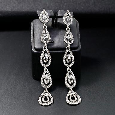 povoljno Naušnice-Žene Viseće naušnice Sa stilom Kreativan Jednostavan Europska Moda Naušnice Jewelry Srebro Za Vjenčanje Dnevno 1 par