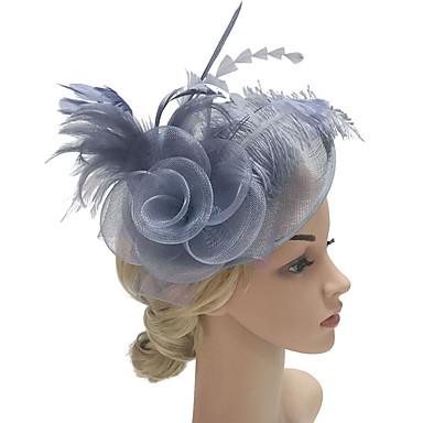 povoljno Party pokrivala za glavu-Perje / Net Fascinators / Cvijeće / Šeširi s Cvjetni print 1pc Vjenčanje / Special Occasion / Zabava / večer Glava