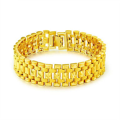 cheap Bracelets-Men's Chain Bracelet Bracelet Bangles Panther Bracelet Link / Chain Statement Luxury Fashion Stainless Steel Bracelet Jewelry Gold For Gift New Year / Gold Plated