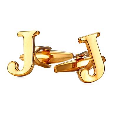 levne Pánské šperky-Kol Düğmeleri Alphabet Shape Kovový Formal Brož Šperky Stříbrná Zlatá Pro Dar Denní