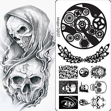 preiswerte Nail Stamping-10 pcs Künstliche Nagelspitzen Nagel-Kunst-Kit Nagel Stamping Werkzeug Vorlage Kreativ / Multi-Type Nagel Kunst Maniküre Pediküre Punk / Hip-Hop