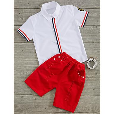 povoljno Odjeća za dječake-Dijete koje je tek prohodalo Dječaci Dungi Pamuk Komplet odjeće Obala