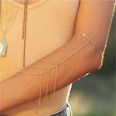 levne Dámské šperky-Dámské Tělové ozdoby 24 cm Arm Chain Zlatá Geometric Shape dámy / Jednoduchý / Moderní Slitina Kostýmní šperky Pro Street / Dovolená Letní