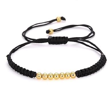 voordelige Herensieraden-Heren Synthetische Tanzaniet Kralenarmband Gevlochten Creatief Modieus Rips Armband sieraden Zwart / Zilver / Goud Rose Voor Feest Verjaardag