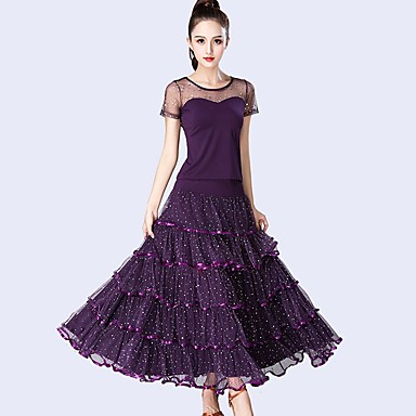 a023ff6c0 Ballroom Dance Outfits Women s Performance Tulle   Milk Fiber ...