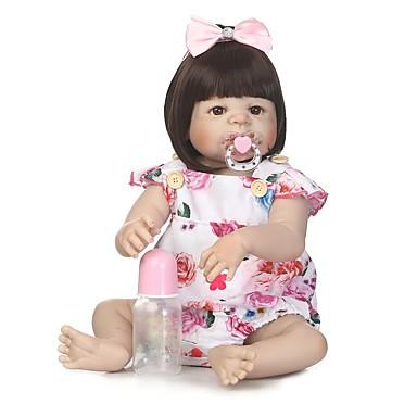 6e37ecb3e NPKCOLLECTION BONECA DE NPK Bonecas Reborn Boneca menina Bebês Meninas 24  polegada Silicone de corpo inteiro Vinil - Recém nascido Presente Olhos  Castanhos ...