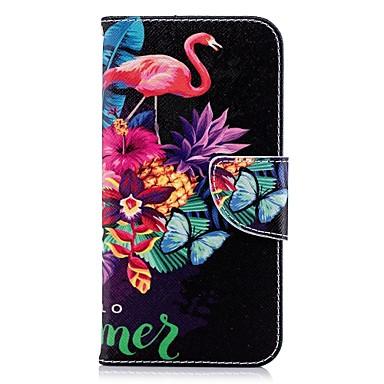 povoljno iPhone maske-Θήκη Za Apple iPhone X / iPhone 8 Plus / iPhone 8 Novčanik / Utor za kartice / sa stalkom Korice Flamingo Tvrdo PU koža