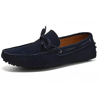 b2979ac824e Hombre Mocasín Ante   Cuero Verano Calzado de Barco Azul Oscuro   Gris    Marrón 6798575 2019 –  37.59