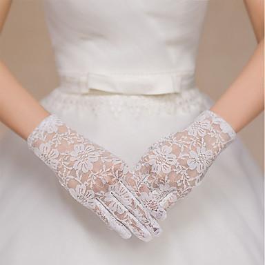preiswerte Handschuhe für die Party-Spandex Handgelenk-Länge Handschuh Vintage Stil / Handschuhe Mit Einfarbig