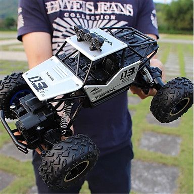 cheap Drones & Radio Controls-RC Car 6255A Hugefoot Monster Truck 4CH 2.4G Buggy (Off-road) / Rock Climbing Car / Monster Truck Titanfoot 1:16 Brushless Electric 20 km/h Water / Dirt / Shock Proof / Without Camera