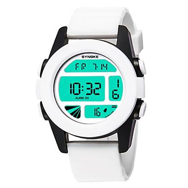 levne Pánské-SYNOKE Pánské Dámské Sportovní hodinky Digitální hodinky Digitální Z umělé kůže Bílá / Modrá / Hnědá 50 m Voděodolné Kalendář Chronograf Digitální Na běžné nošení Módní - Hnědá Zelená Modrá / Svítící