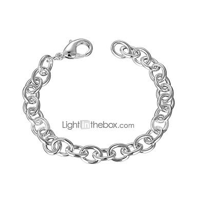 preiswerte Gliederarmband-Herrn Ketten- & Glieder-Armbänder Einzelkette Kreativ Einfach Grundlegend Kupfer Armband Schmuck Silber Für Alltag Arbeit / versilbert