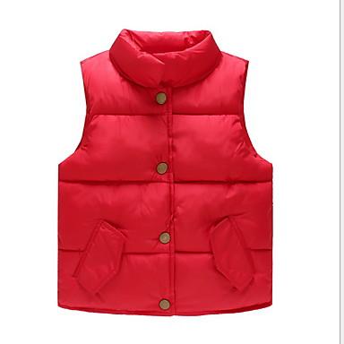 povoljno Odjeća za dječake-Dijete koje je tek prohodalo Dječaci Osnovni Dnevno Jednobojni Bez rukávů Normalne dužine Prsluk Crn
