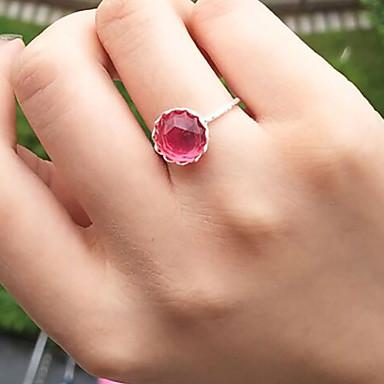 billige Motering-Dame Ring 1pc Grønn Rosa Harpiks Legering Sirkelformet Geometrisk Form damer Enkel Søt Daglig Smykker Skulptur Blomst Smuk