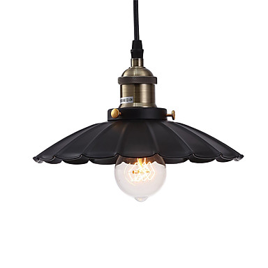 54 04 Vintage Pendant Lights Loft Black Metal Shade Dining Room Kitchen Bar Light Fixture