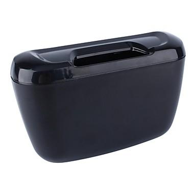 levne Organizéry do auta-ziqiao vozidlo auto auto odpadky odpadky může prach odpadkový koš skladovací box kontejner - černý
