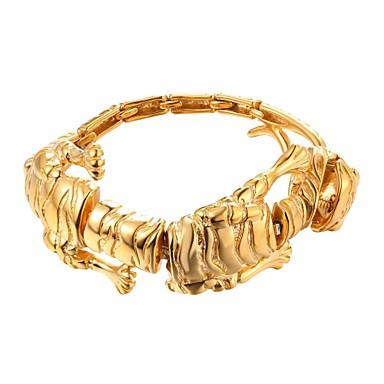voordelige Herensieraden-Heren Armband Stijlvol Tiger Hyperbool Modieus Roestvast staal Armband sieraden Goud / Zwart / Zilver Voor Lahja Straat