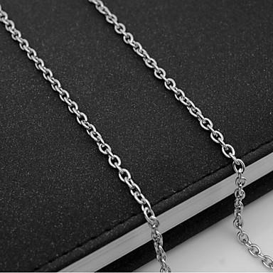 levne Pánské šperky-Pánské Řetízky Jeden pruh Námořní řetěz Evropský Titanová ocel Stříbrná 55 cm Náhrdelníky Šperky 1ks Pro Denní