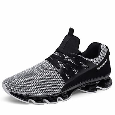 cheap Men's Athletic Shoes-Men's Comfort Shoes PU Summer Athletic Shoes Running Shoes / Walking Shoes Color Block Black / Black / Red / Gray