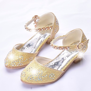 16a4444564a Girls  Shoes Synthetics Spring   Fall Flower Girl Shoes   Tiny Heels for Teens  Heels for Gold   Silver   Pink 6840414 2019 –  19.99