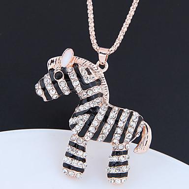 povoljno Modne ogrlice-Žene Ogrlice s privjeskom Duga ogrlica Long asfaltirati Konj dame Europska Moda Slatka Style Umjetno drago kamenje Krom Zlato 70 cm Ogrlice Jewelry 1pc Za Kauzalni