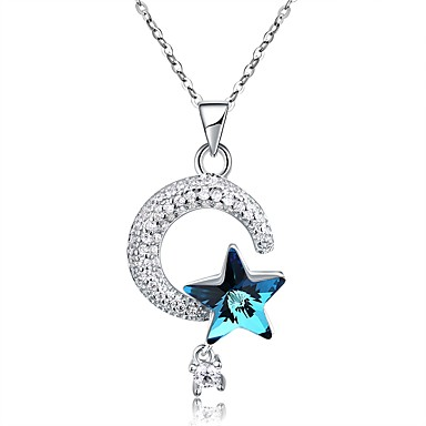 Womens crystal stylish pendant necklace gold plated s925 womens crystal stylish pendant necklace gold plated s925 sterling silver star fashion white 40 cm necklace 1pc for party daily 6813804 2018 2999 aloadofball Choice Image
