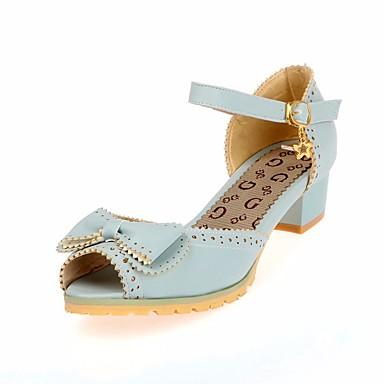 356a8b9cf8fc Girls  Shoes PU(Polyurethane) Summer Flower Girl Shoes   Tiny Heels for  Teens Sandals for Beige   Pink   Light Blue 6837827 2019 –  22.99