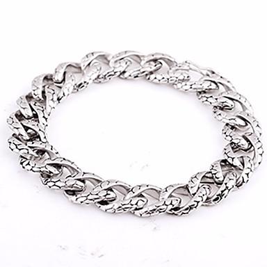 levne Pánské šperky-Pánské Řetězové & Ploché Náramky Klasika Silný řetězec Had stylové Evropský Moderní Titanová ocel Náramek šperky Stříbrná Pro Street Bar