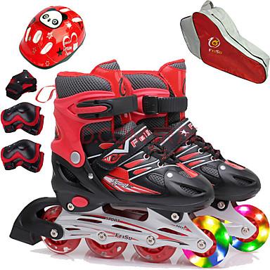povoljno Role-Djevojčice Inline klizaljke / Kneepad / Torba za skejt Dječji Bljeskalica Prilagodljivo, Prozračnost ABEC-7 - purpurna boja, Crvena, Plava