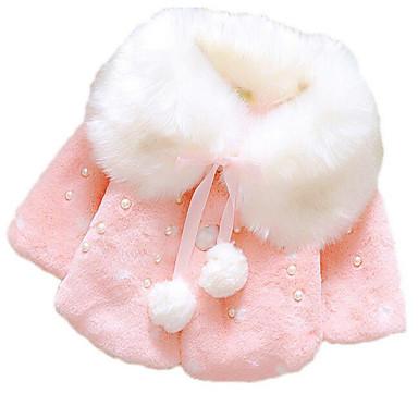 preiswerte Oberbekleidung für Babys-Baby Mädchen Grundlegend Alltag Druck Langarm Standard Daunen & Baumwoll gefüttert Rosa